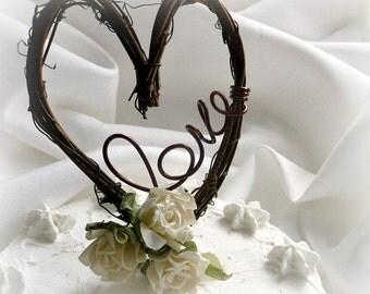 Rustic Cake Topper Fall Wedding Decorations By HandmadeAffair