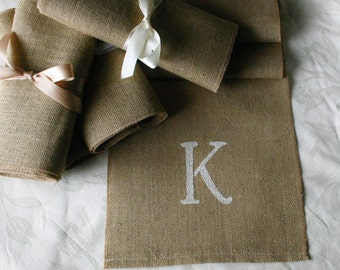 Monogrammed Burlap table runners, burlap wedding runners