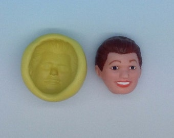 silicone flexible mold, male face.