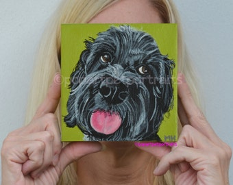Pet portrait Custom dog painting Pop Art Pet Portrait Dog portrait modern art personalized original dog portrait Dog art Handmade art
