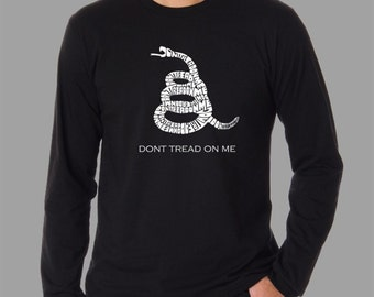 Men's Long Sleeve T-Shirt - Created using the words Dont Tread on Me