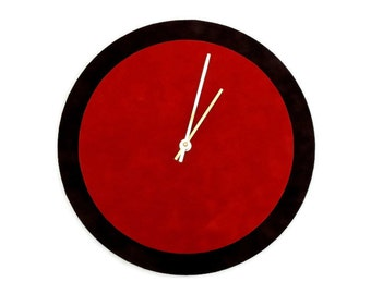 Unique Wall Clock, Red and Black Clock, Home and Living,  Home Decor, Decor and Housewares, Home and Living, Unique Clock