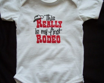 This Really Is My First Rodeo Embroidered Onesie Bodysuit