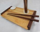Sushi set - Tray, bowl and chopsticks - Customizable
