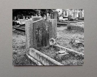 Headstone, Art, Film, English, Cemetery, Black and White Photography, Monochromatic, Grave, Graveyard, Cemetery Art, Cemetery Photography