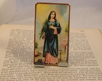 Saint Agatha Portable Altar Meditation Altar Prayer Devotion Desk Accessory