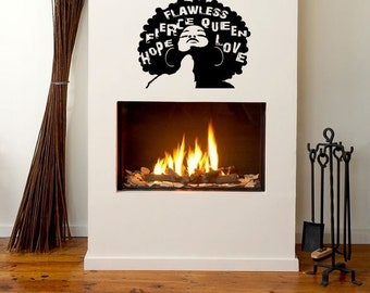24 in Flawless Wall Decal- Natural Hair, Wall Decal, Afro Hair