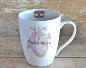 Twoo Wuv Mug, Princess Bride, Wesley Buttercup, Marriage Gift, Masked Man, Dread Pirate Robers, Ready to Ship
