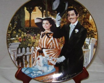 """Gone with the Wind Golden Anniversary """"Strolling in Atlanta"""" Commemorative Plate"""