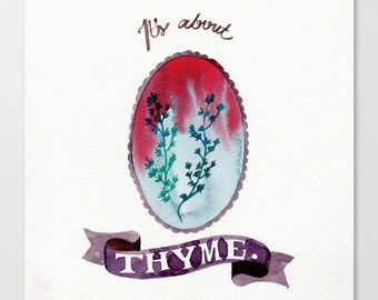 It's about thyme // Chromogenic Photographic Print