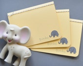 Thank You Baby Elephant Note Card Set
