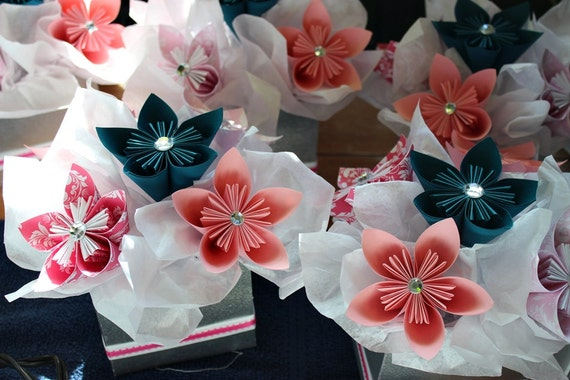 Kusudama Centerpiece Table Decor Paper Flowers Set Of 6