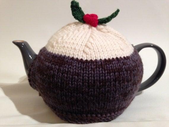 Christmas Pudding Tea Cosy knitting pattern by louiseshandknits