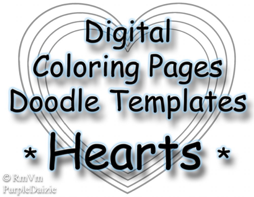 Printable Coloring Book Digital Color Pages Zen Doodle
