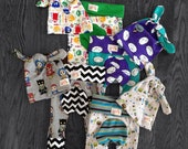Newborn Buggy Britches and Knot Hat Sets - Pirates, Owls, Cranky Clouds, Oogas