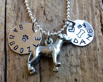 Great Dane Dog custom necklace, Personalized, Your Dog's Name. Pet Memorial. Love my Dane