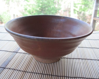 Stoneware Bowl with Russet Hare's Fur Glaze
