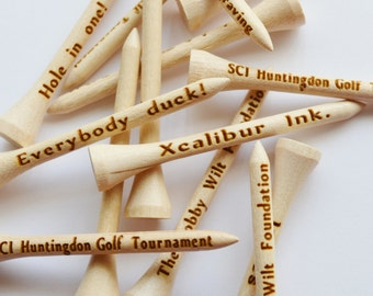"""Golf Tees -12 Personalized Laser Engraved, Wedding Favors, Fathers Day, Birthday, Best Man, Groomsmen gift, Golf, Engraved Golf Tees 2 3/4"""""""