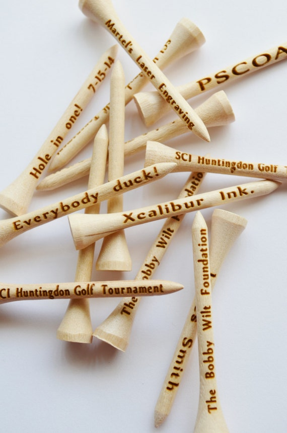 Golf Tees 12 Personalized Laser Engraved Wedding Favors