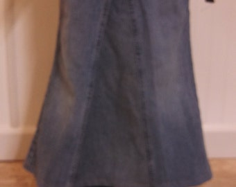 Long jean skirt girls size 7