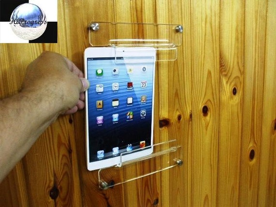 Universal Acrylic Wall Hanging Holder Display Mount For Tablet