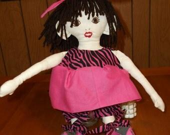 All cloth Ragdoll, soft, cuddly Ragdoll, collectible Ragdoll, Doll collection Ragdoll