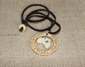 Personalized Names Africa Necklace