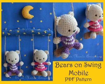 Bears on Swing Mobile Pattern