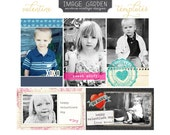 Valentine wallet & card templates for professional photographers