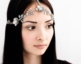 68_2 in 1_Elven circlet, Tiara, Medieval hair jewelry, Silver circlet, Game of thrones jewelry, Cosplay hair accessory, Medieval headpiece.