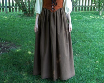Renaissance Skirt, BROWN, Womens One-Size-Fits-All S, M, L, XL