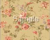 Dollhouse Miniature Wallpaper, Kathryn, Scale One Inch