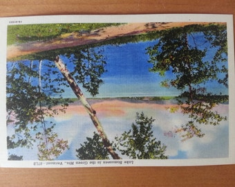 Lot of Five Vintage Linen Postcards Featuring Lake Bomoseen Vermont - MINT