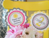 You are my sunshine centerpiece -Little Miss Sunshine-Sunshine theme birthday banner-You are my Sunshine-