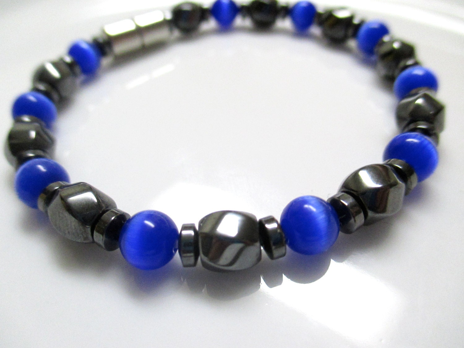magnetic bracelet magnetic therapy bracelet royal blue cats