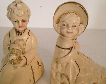 Sale 25% off enter coupon code CLEARANCE Vintage Coventry Ware Chalkware Figurines Victorian Children