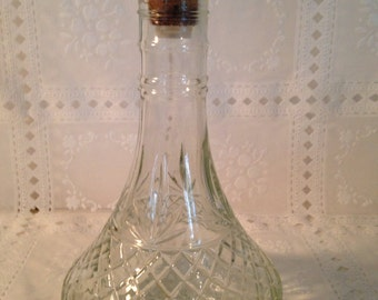 Vintage Liquor Decanter with Cork Stopper