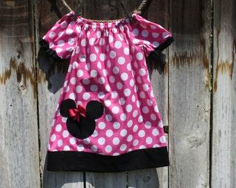 Minnie Mouse Peasant Dress