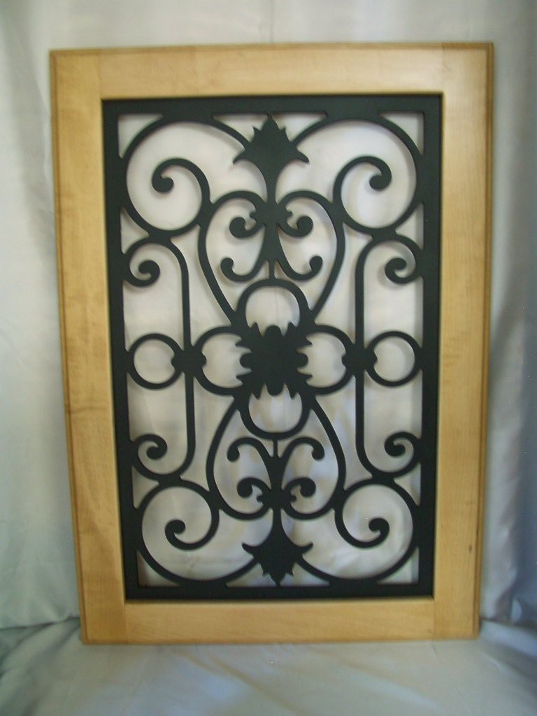 Doors Design: Roe-Cabinet Door Panel Insert In Decorative Iron.. Available