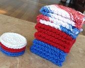 Knitted Washcloth and Scrubbie Set - Freedom (12 piece set)