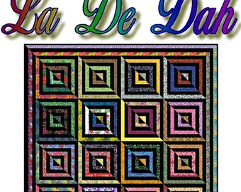 LA De DAH - Quilt-Addicts Patchwork Quilt Pattern
