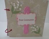 Girl's First Communion scrapbook