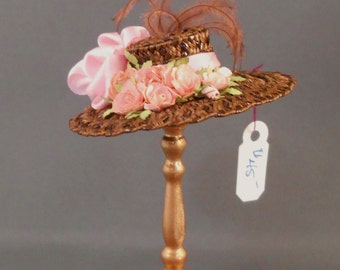 "Dollhouse Miniature 1"" Scale Doll Hat"