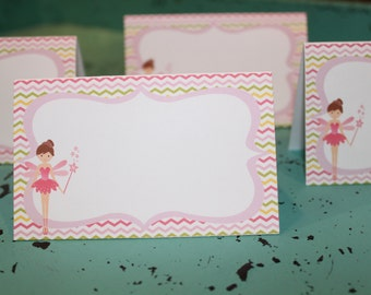 GARDEN FAIRY Happy Birthday or Baby Shower Buffet Labels {Set of 8} - Party Packs Available