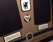 Custom Order 8x10 Dog Frame-- Include the Name and Picture of your Dog - smaller sizes available