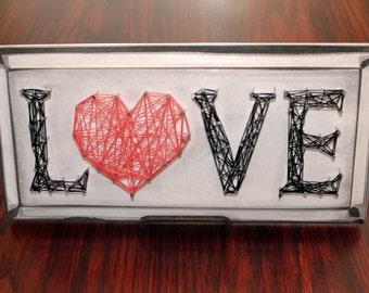 """String Art """"LOVE"""" Sign"""
