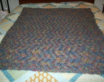 Hand Made Meandering Afghan