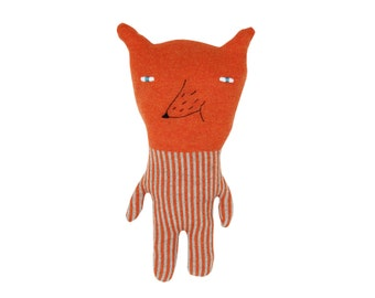 Foxie - soft knitted toy