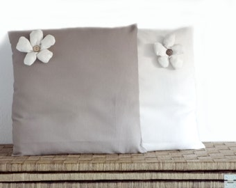 Cushion covers , decorative pillow,  flowered cushions