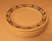 Vintage Iroquois China Set of 4 Restaurant Ware Bread & Butter Plates Georgian